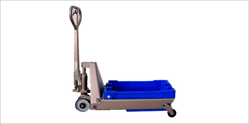 Trolley for fishboxes - Stainless